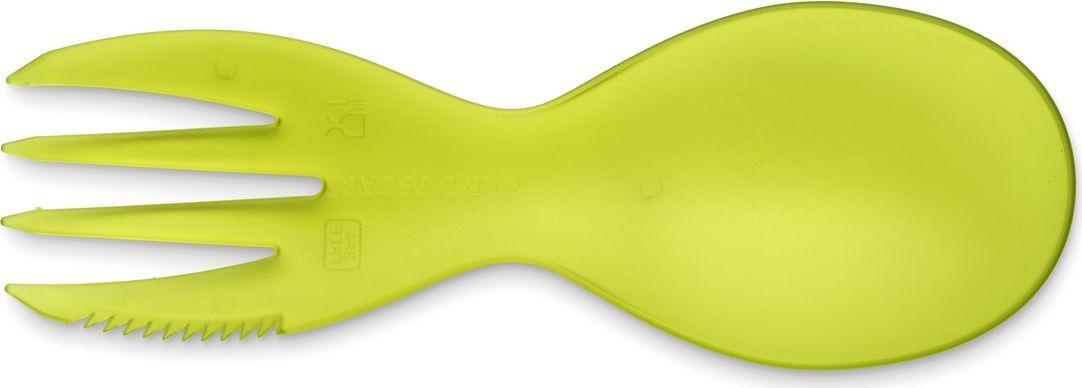 Набор столовых приборов Carl Oscar 3в1 CUTElery многофункциональный, светло-зеленый