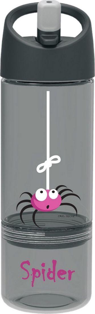 Бутылка Carl Oscar детская 2в1 Spider, 045 л, серый бутылка для воды aquapad™ 0 4л белая carl oscar aquapad™