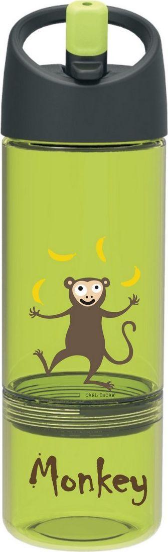 Бутылка Carl Oscar детская 2в1 Monkey, светло-зеленый бутылка для воды aquapad™ 0 4л белая carl oscar aquapad™