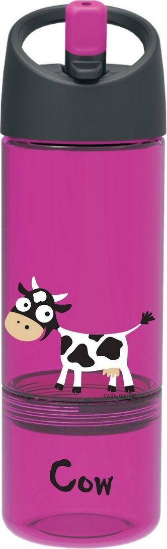 Бутылка Carl Oscar детская 2в1 для воды, Cow, фиолетовый бутылка для воды aquapad™ 0 4л белая carl oscar aquapad™