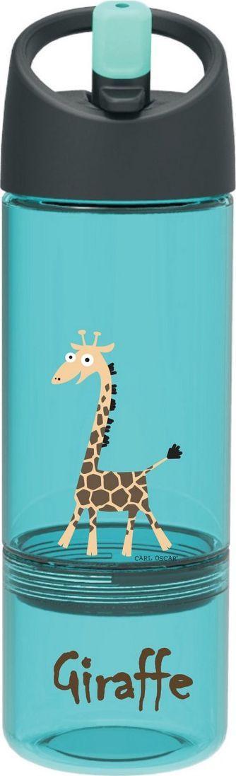 Бутылка Carl Oscar детская 2в1 Giraffe, 450 мл, бирюзовый