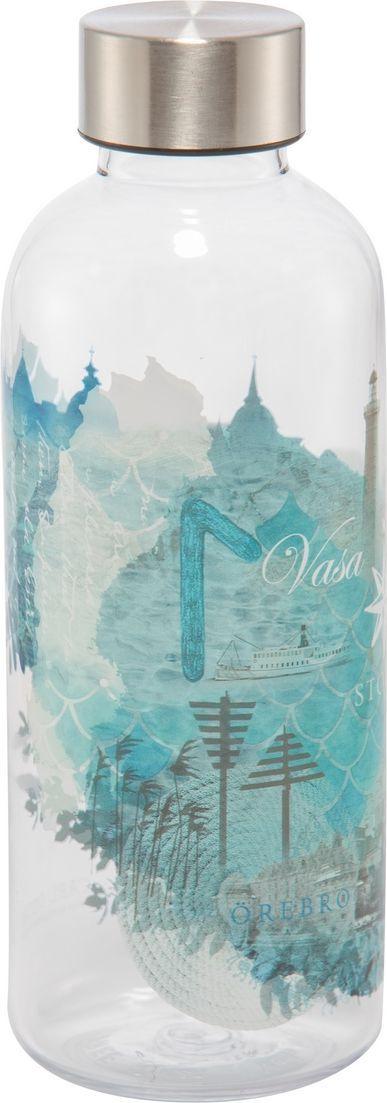 Бутылка Carl Oscar для воды WisdomFlask Water, 650 мл, бирюзовый бутылка для воды aquapad™ 0 4л белая carl oscar aquapad™