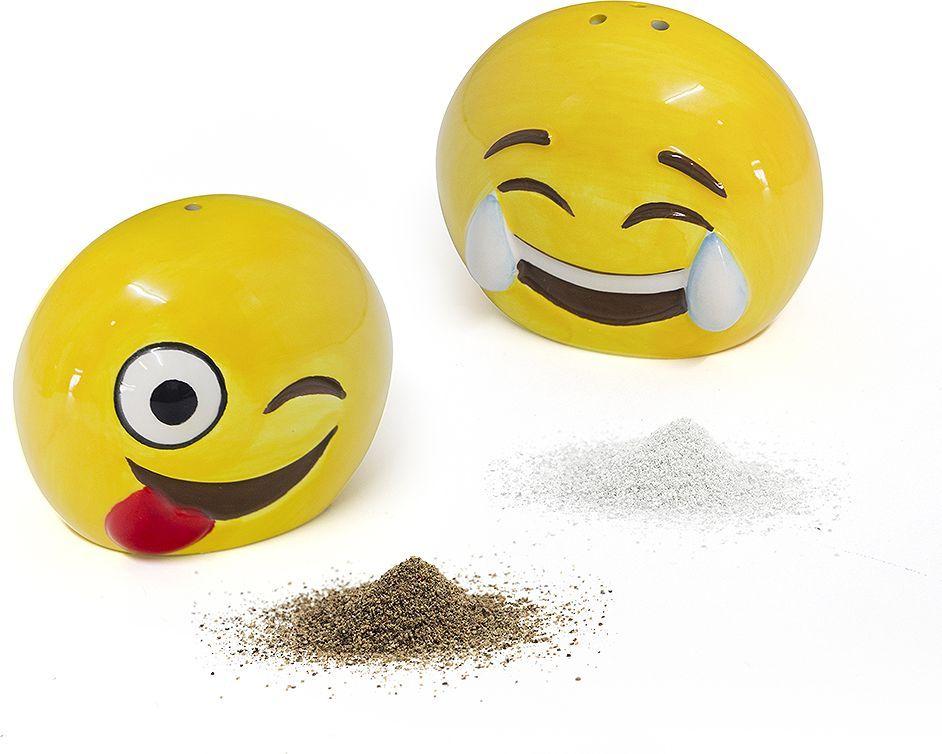 Солонка и перечница Balvi Emoji, цвет: желтый солонка balvi mr chef