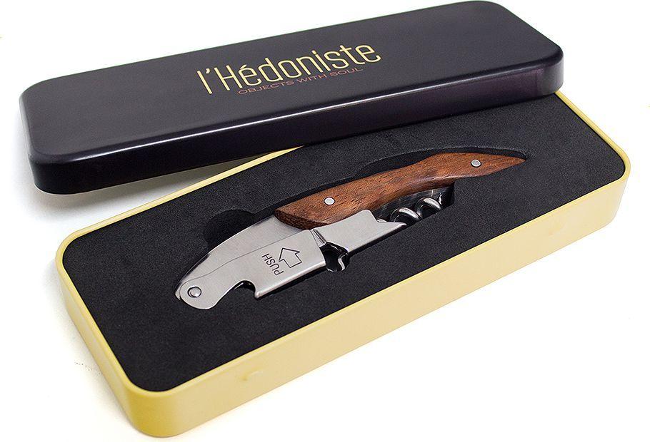 Штопор Balvi l'Hedoniste, в подарочной коробке, цвет: серебристый vacuvin штопор twister черный в подарочной коробке