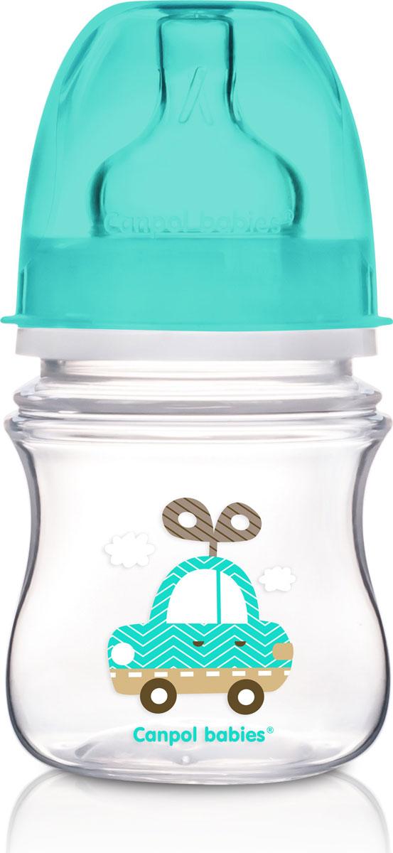 Canpol Babies Бутылочка EasyStart с широким горлышком антиколиковая от 0 месяцев цвет голубой 120 мл