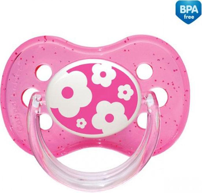 Canpol Babies Пустышка круглая силиконовая Nature от 6 до 18 месяцев цвет розовый