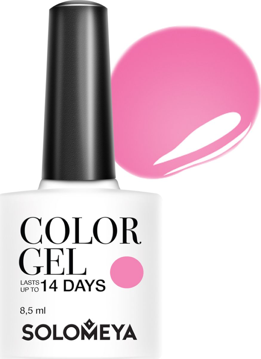 Solomeya Гель-лак Color Gel, тон Hot Pink SCGY013 (Жгучий розовый), 8,5 мл