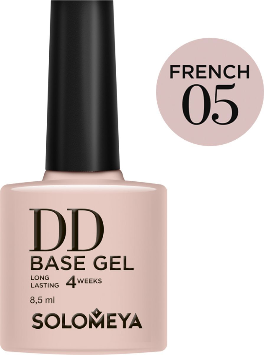 Solomeya Суперэластичная DD-база (Daily Defense) цвет French 05/DD Base Gel (French 05), 8,5 мл базы solomeya dd base gel 01 цвет 01 french variant hex name dda4ab