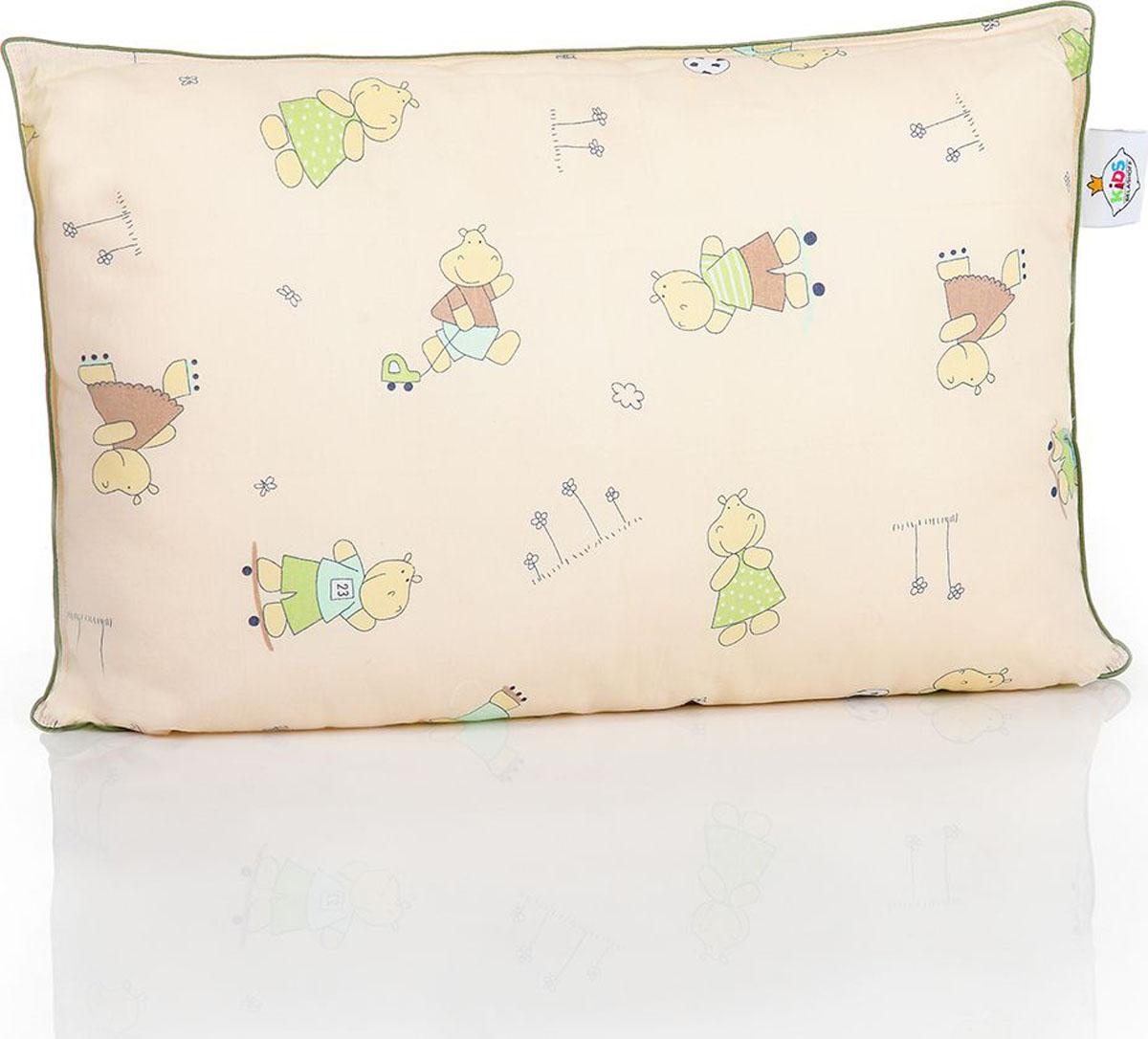 Belashoff Kids Подушка детская Наша Умничка цвет бежевый зеленый 40 x 60 см