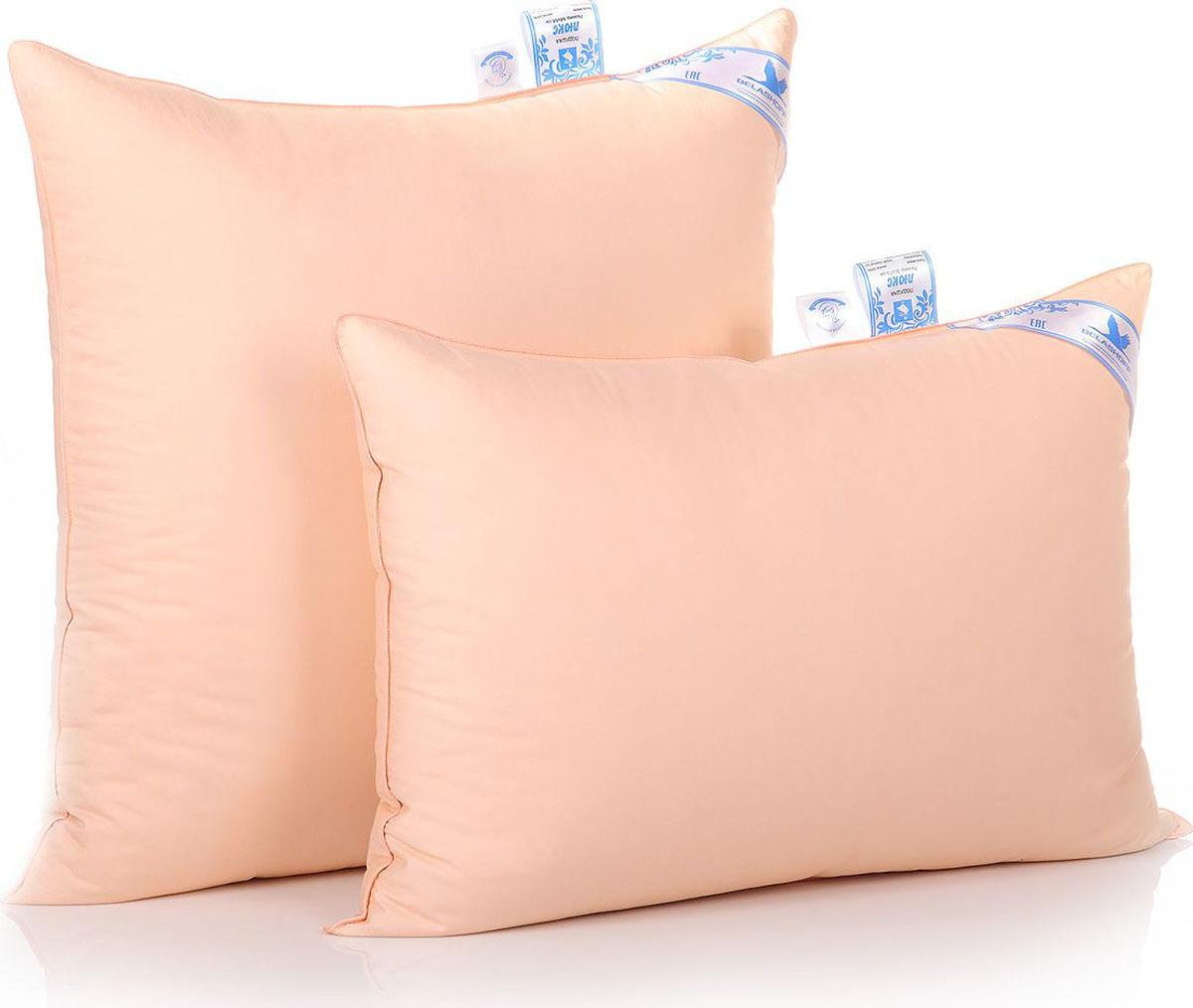 Belashoff Подушка Люкс, высокая, цвет персиковый 68 x 68 см