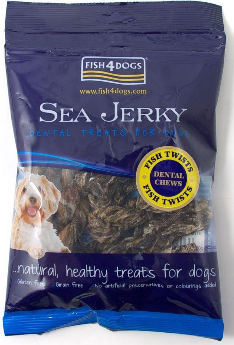 Лакомство для собак Sea Jerky Fish Twists, с рыбой, 100 гJFT588Sea Jerky Fish Twists - твисты из 100% запеченной кожи рыбы. Эти низкокалорийные угощения имеют шероховатую текстуру, которые не только помогут удалить зубной камень, но и очень вкусные.