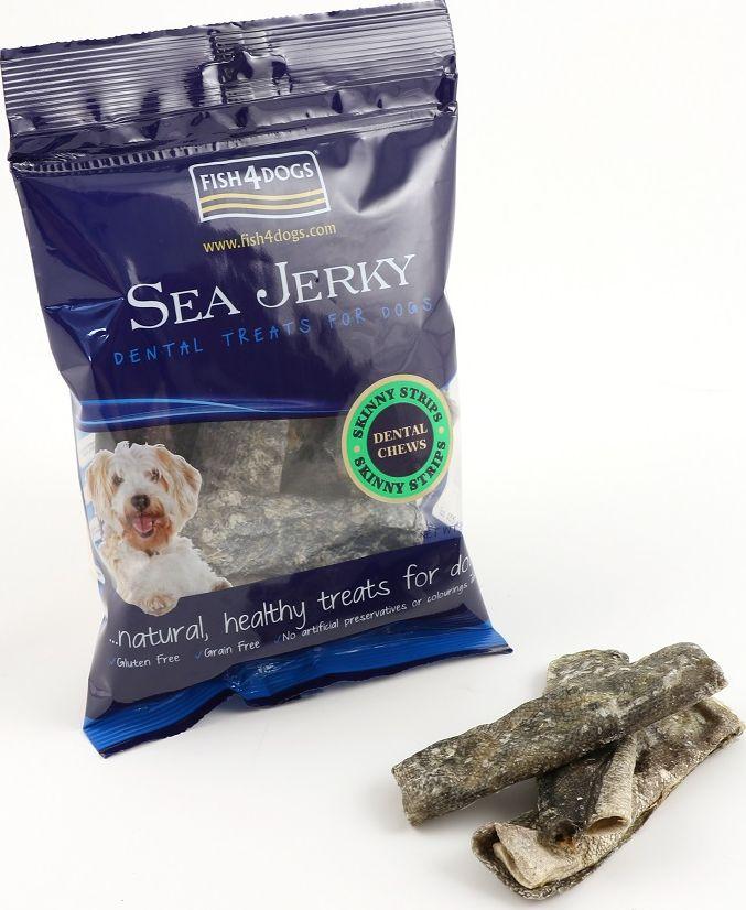 Лакомство для собак Sea Jerky Skinny Strips, с рыбой, 100 г depilica нетканые полоски для эпиляции для лица 3x12 5 см non woven facial strips 100 шт