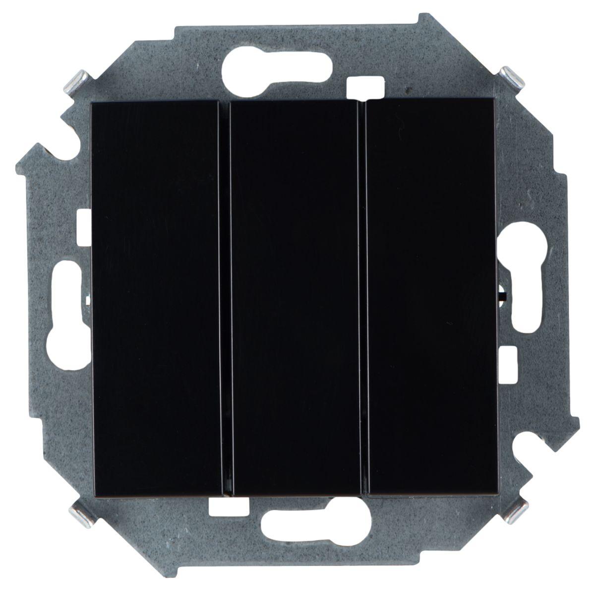 Выключатель Simon Electric, трехклавишный, цвет: черный, 10А, 250В simon ghraichy bogota