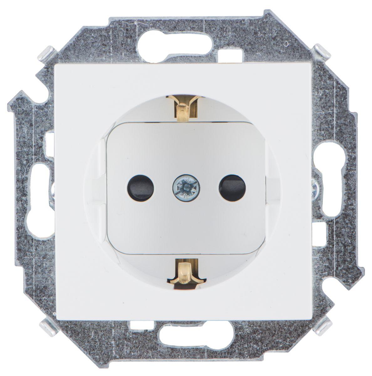 Розетка Simon Electric, со шторками, с заземлением, цвет: белый, 16А, 250В simon ghraichy bogota