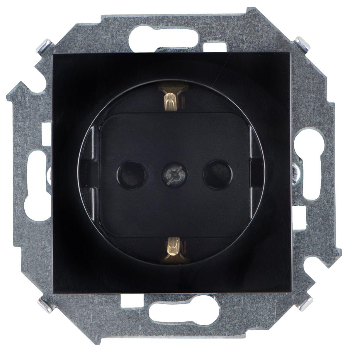 Розетка Simon Electric, со шторками, с заземлением, цвет: черный, 16А, 250В simon jones celebrating christian initiation