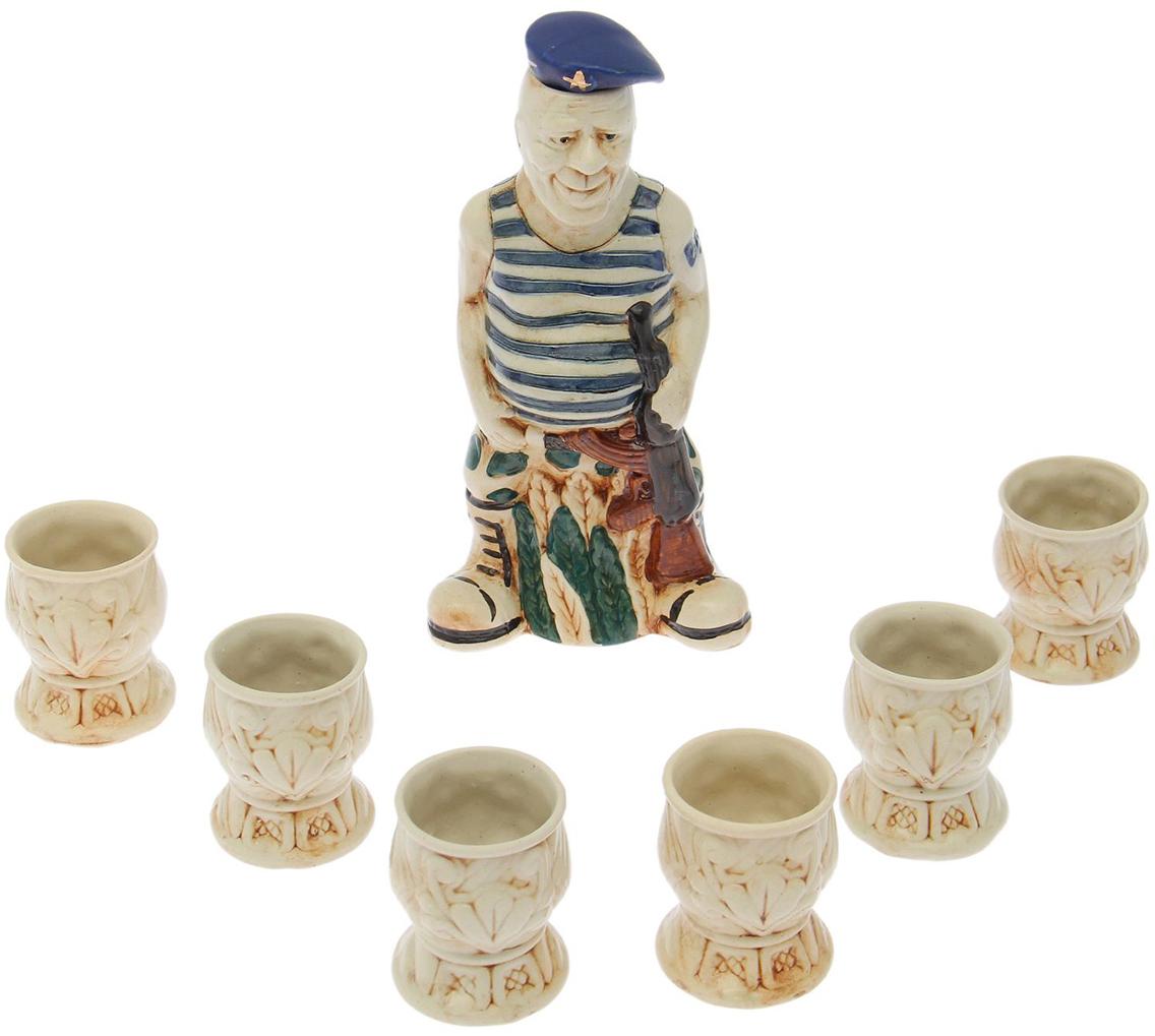 Набор для ликера Керамика ручной работы ВДВ, 7 предметов. 1758034 набор винный керамика ручной работы ружье 7 предметов