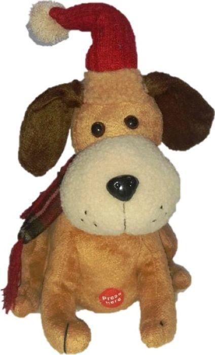 Мягкая игрушка музыкальная Estro Собачка, YD160452, темно-бежевый huile игрушка музыкальная собачка с телефоном