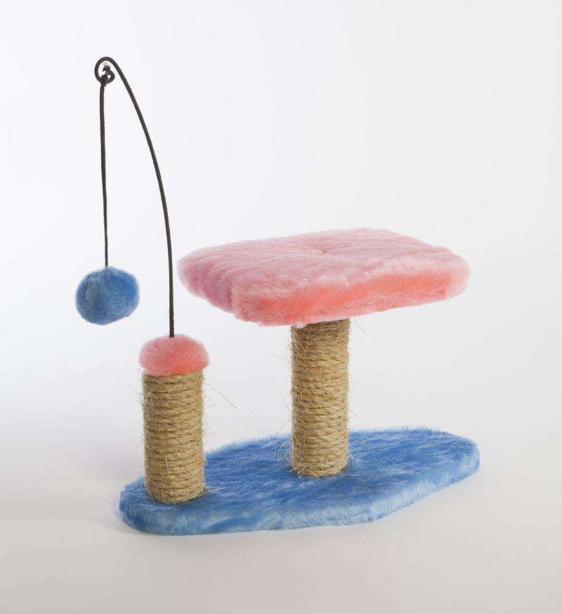 """Когтеточка """"Велес"""", с лежаком и игрушкой, 41 х 22 х 25 см"""
