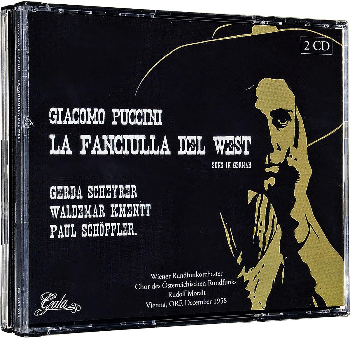 Джакомо Пуччини Giacomo Puccini. La Fanciulla Del West (Vienna, Orf, December 1958) (2 CD) джакомо пуччини toska