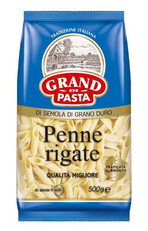Grand Di Pasta перья пенне, 500 г лапшерезка ручная со съемной насадкой pasta di casa pcm 180