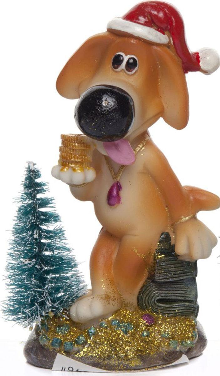 Фигурка House & Holder Собака в колпаке с елкой мягкие игрушки lapa house собака сумка 24 см