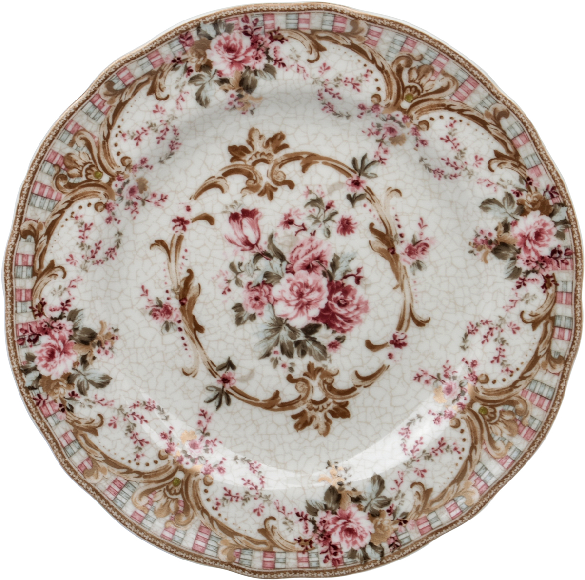 """Тарелка десертная Utana """"Абингтон Роуз"""", диаметр 22 см"""
