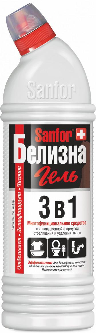 Гель отбеливающий Sanfor Белизна, комплексного действия, 1 л гель отбеливающий sanfor белизна комплексного действия 1 л