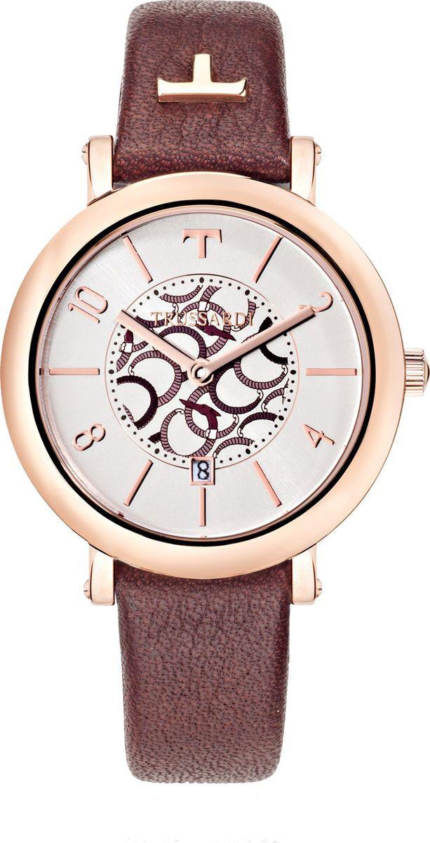 Часы наручные женские Trussardi, цвет: красный. R2451103503R2451103503Часы наручные женские Trussardi имеют надежный кварцевый механизм - работают от батарейки и не требуют постоянного завода. Часы снабжены кожаным ремешком с классической пряжкой. Корпус часов выполнен из стали. Циферблат имеет индикацию цифрами и две стрелки - часовую и минутную. Стекло минеральное со специальной закалкой для большей прочности и устойчивости к царапинам. Часы обладают стандартной влагозащитой. Интересный дизайн этих часов не оставит равнодушной ни одну модницу.