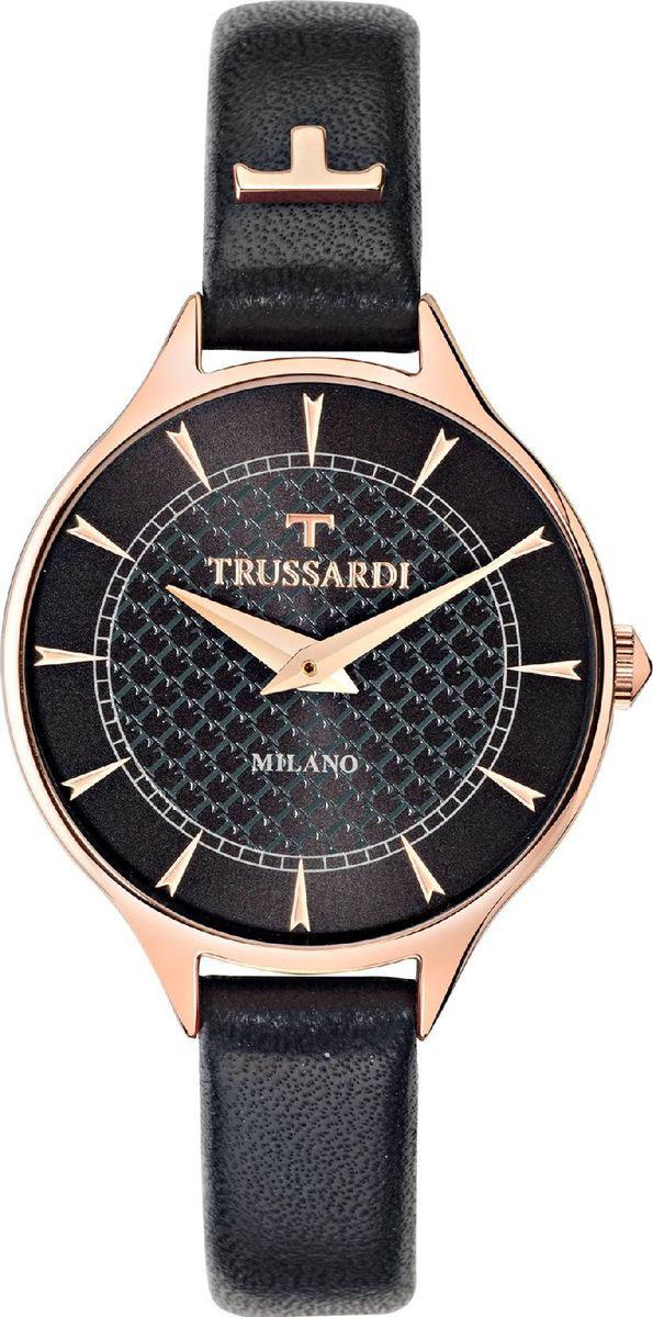 Часы наручные женские Trussardi, цвет: черный. R2451122504 часы trussardi trussardi tr002dweftd4