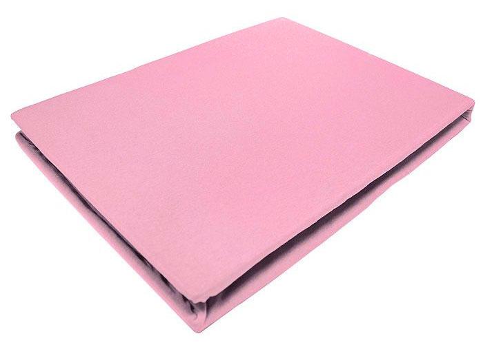 Простыня на резинке ЭГО, цвет: светло-розовый, 180 х 200 смЭ-ПР-03-32Трикотажная простыня ЭГО изготовлена из 100 % хлопка высокого качества. Натуральный, экологически чистый материал обеспечивает высокую гигиеничность изделия. Трикотаж имеет специальную структуру, образованную переплетением петель, что обеспечивает его растяжимость и эластичность. Наличие резинки позволяет легко зафиксировать простыню на матрасе. Она не сминается и не комкается во время сна. Трикотаж достаточно эластичен, поэтому изделия из него можно даже не гладить. Если простыня немного больше кровати, с помощью резинки ее можно подогнать под размер кровати, учитывая толщину матраса. Также ее можно использовать в качестве наматрасника. Резинка пришита по всему периметру простыни. Плотность 140 г/м2. Уход: машинная стирка при температуре 60°C. Не отбеливать. Рекомендуем!