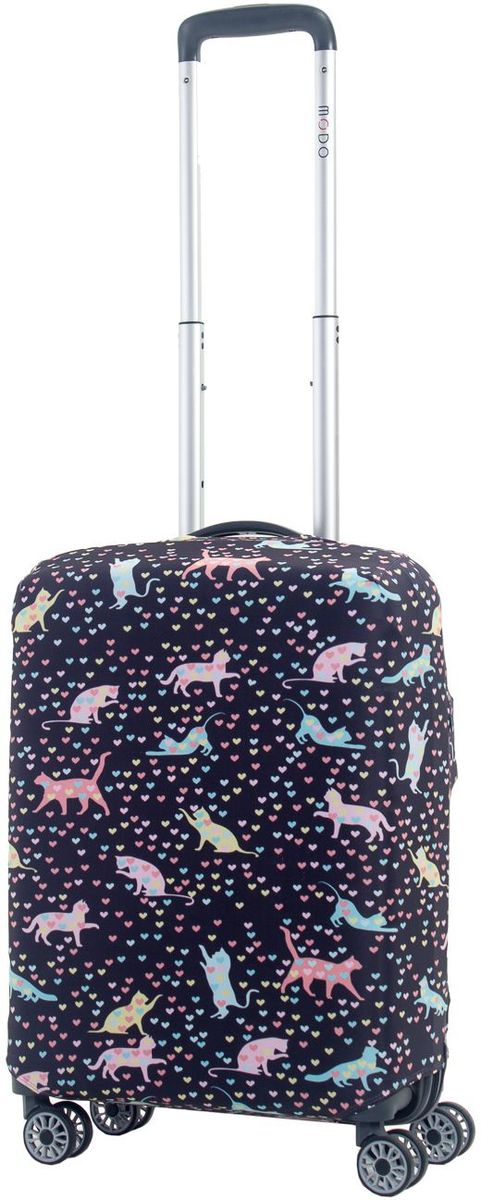 Чехол для чемодана Mettle Kity, цвет: темно-синий. Размер S (высота чемодана: 50-55 см) чехол для чемодана mettle творческо размер m высота чемодана 55 70 см
