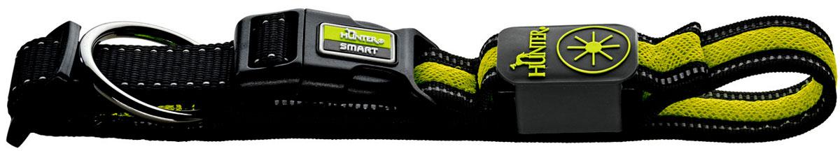 """Ошейник Hunter """"LED Manoa Glow"""", cветящийся, цвет: черный, желтый, размер: L (55-60 см)"""