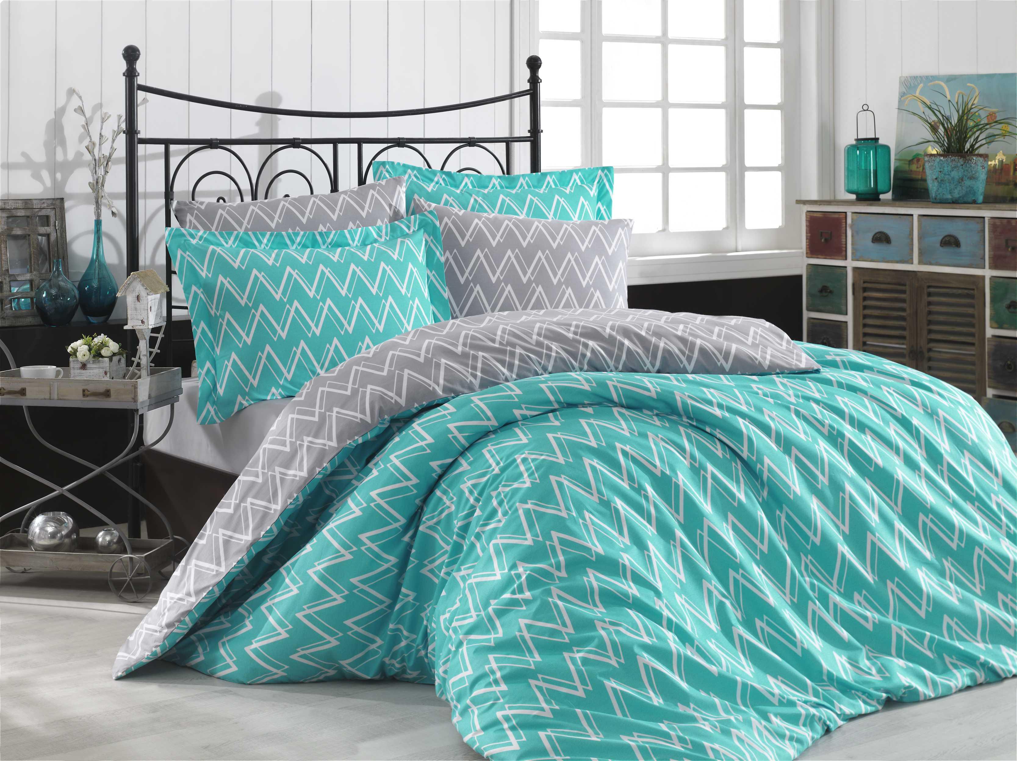 """Комплект постельного белья Hobby Home Collection """"Nazende"""", 1,5-спальный, наволочки 50x70, цвет: бирюзовый"""