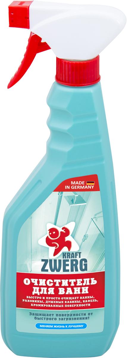 Очиститель для ванн Kraft Zwerg, 500 мл удалитель известкового налета kraft zwerg 500 мл
