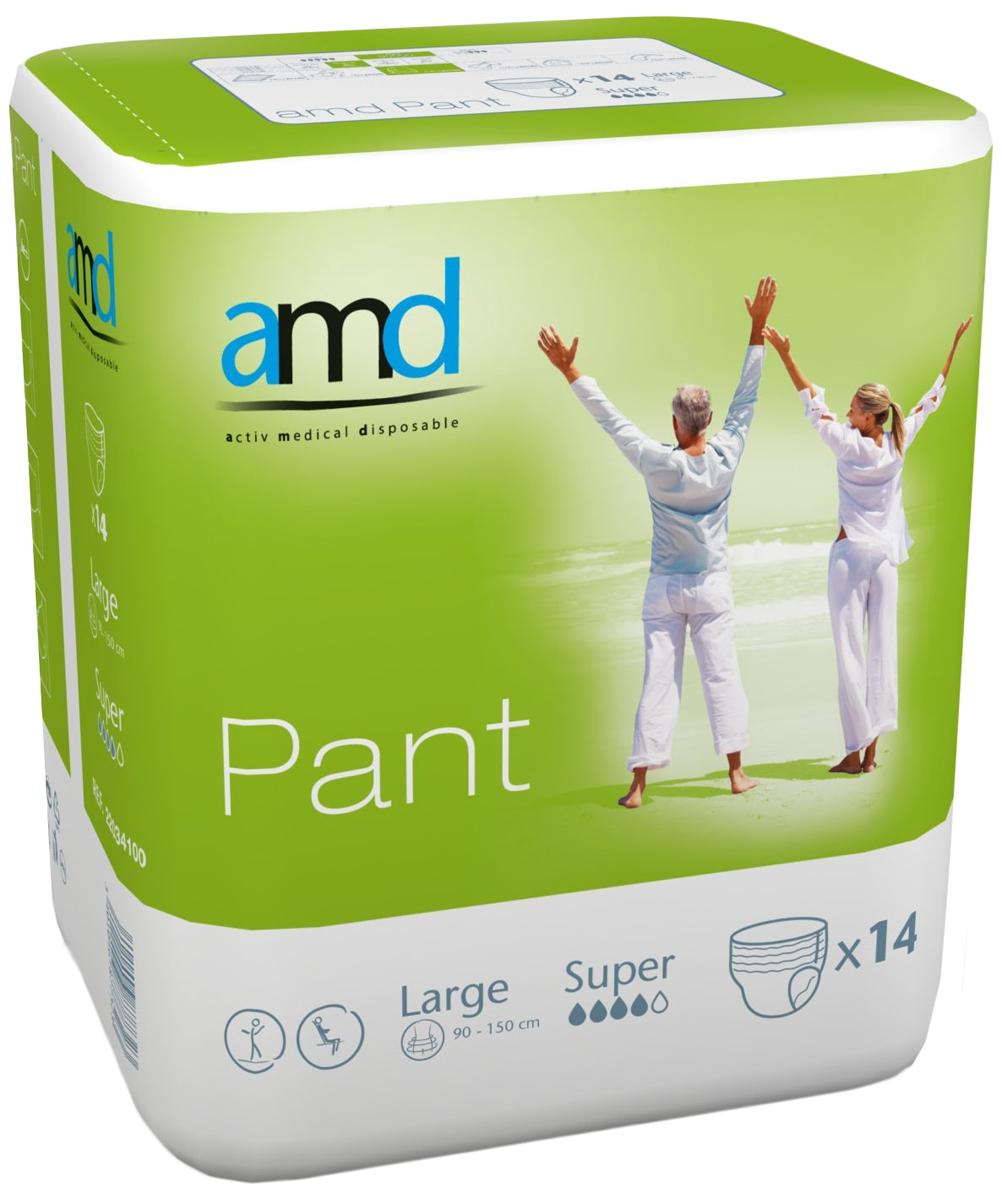 AMD Подгузники-трусики Pant L Super 14 шт подгузники для взрослых id размер m 30шт