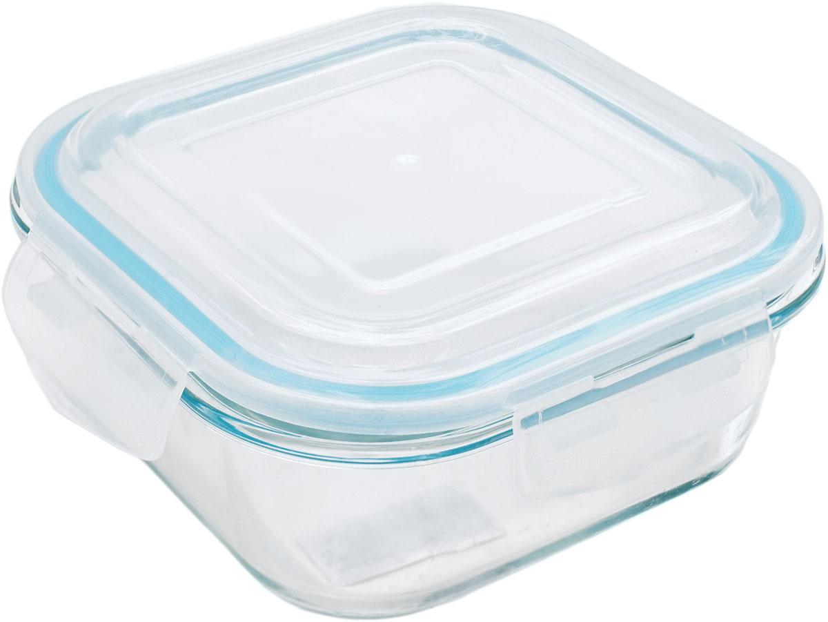 Контейнер пищевой Eley Elegant Сollection, квадратный, цвет: лазурный, 1,2 л контейнер пищевой eley elegant сollection круглый цвет лазурный 400 мл