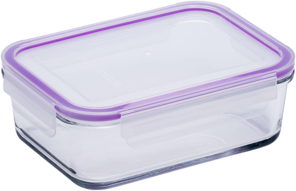 Контейнер пищевой Eley, прямоугольный, цвет: баклажан , 1,6 л цена