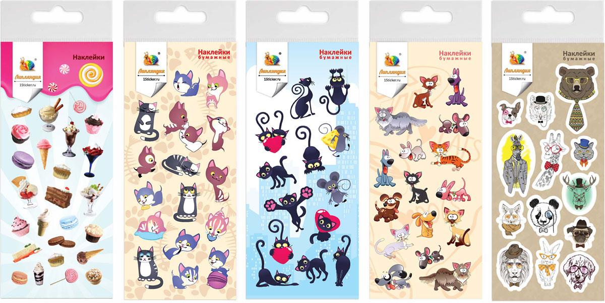 Липляндия Набор бумажных наклеек Животные 4627130656998