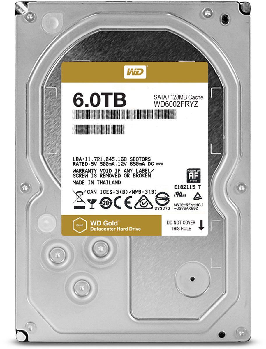 Внутренний жесткий диск WD Gold 6TB (WD6002FRYZ) круглосуточная авиакасса