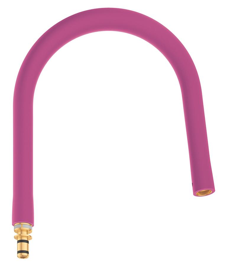 Шланг гибкий Grohe GrohFlexx, для профессиональных смесителей Grohe Essence, цвет: фуксия шланг для мойки 2