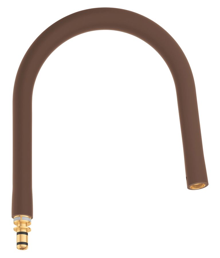 Шланг гибкий Grohe GrohFlexx, для профессиональных смесителей Grohe Essence, цвет: коричневый шланг для мойки 2