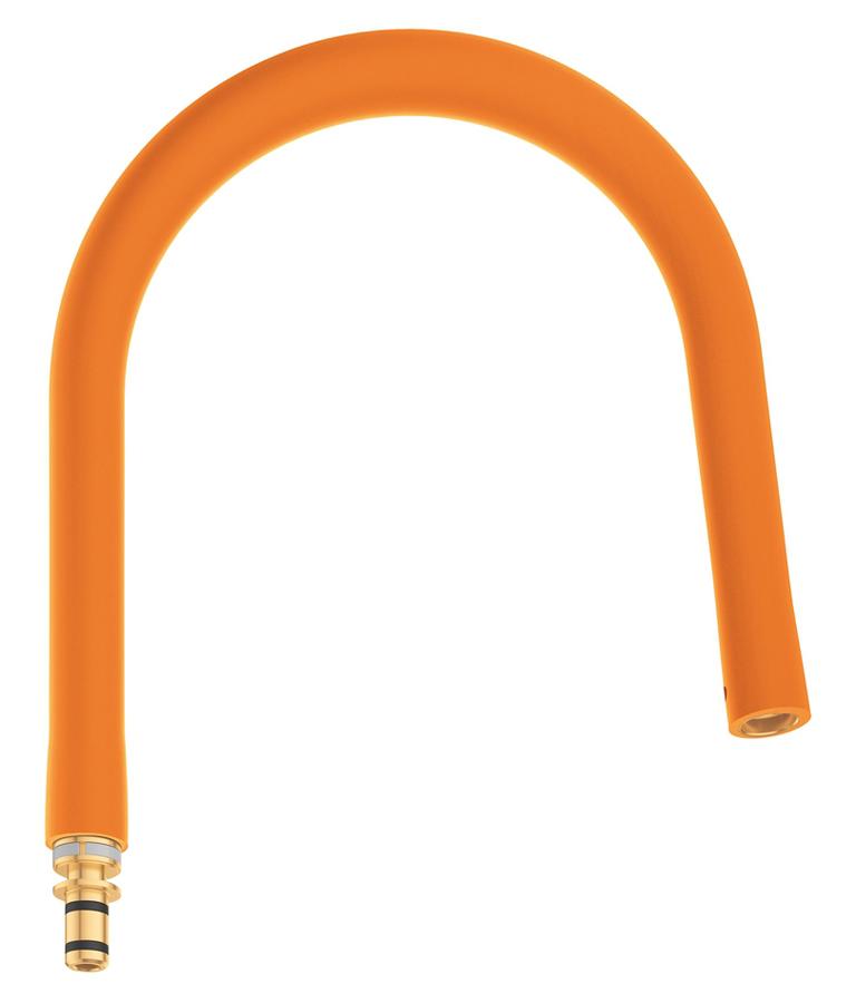 Шланг гибкий Grohe GrohFlexx, для профессиональных смесителей Grohe Essence, цвет: оранжевый шланг для мойки 2