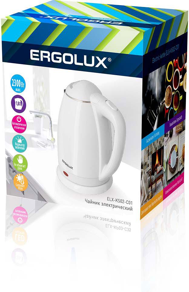 лучшая цена Электрический чайник Ergolux 13114