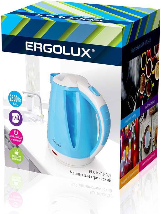 Электрический чайник Ergolux 13118, голубой