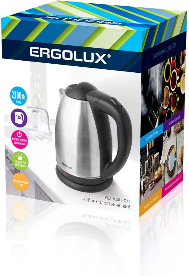 Электрический чайник Ergolux 13120, черный чайник ergolux elx ks01 c72 black 13120