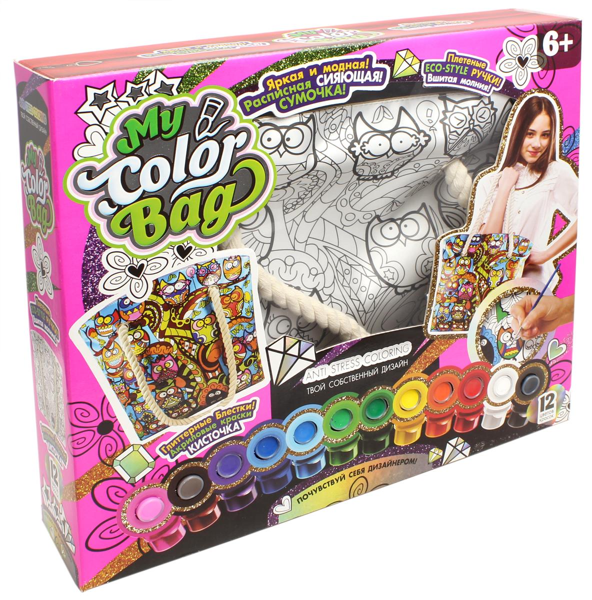Danko Toys Набор для росписи сумки My Color Bag Мульт