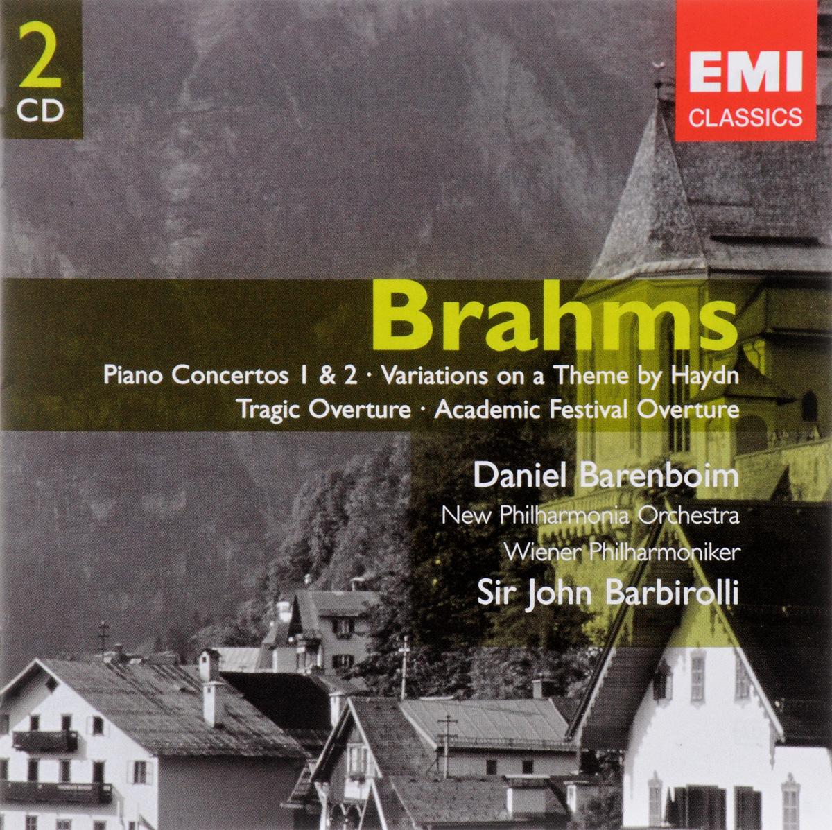 лучшая цена Иоганнес (Йоханнес) Брамс Johannes Brahms. Piano Concertos Nos 1 & 2, Academic Festival & Tragic Overtures, Variations On A Theme Of Haydn (2 CD)