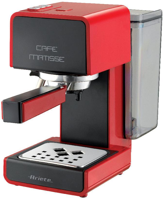 Кофеварка рожковая Ariete 1363/11 Cafe Matisse, Red, эспрессо попкорница ariete 2952