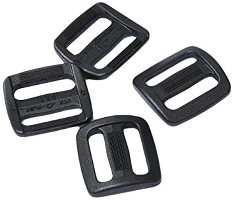 Набор пряжек AceCamp Duraflex Triglide, двухщелевые, цвет: черный,20 мм, 4шт пряжка acecamp duraflex
