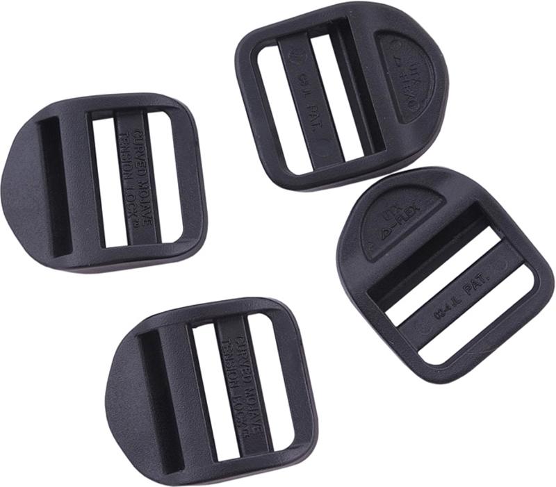 Набор пряжек AceCamp DuraflexLadderlock, регулирующие, цвет: черный, 25 мм, 4 шт пряжка acecamp duraflex